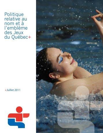 Politique relative au nom et à l'emblème des Jeux du Québec+