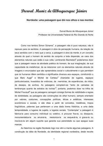 Durval Muniz de Albuquerque Júnior - CCHLA/UFRN