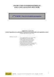 IISR 6ème partie - Feux de circulation permanents - Equipements de ...
