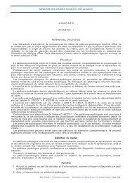 ANNEXES ANNEXE I Les référentiels d'activités et de ... - ifpek