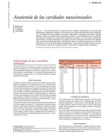 Anatomía nasosinusal - 7mo Semestre UCIMED II-2012