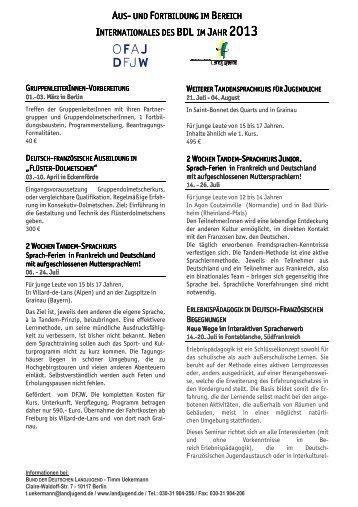 Kursprogramm 2013.pdf - Bund der Deutschen Landjugend