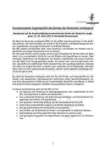 2007_Grundsatzpapier_Jugendpolitik.pdf - Bund der Deutschen ...
