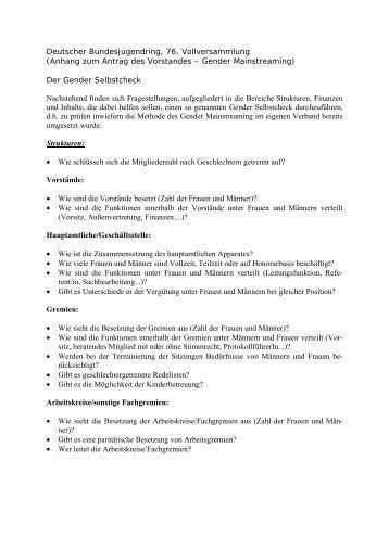 Gendercheck (PDF) - Bund der Deutschen Landjugend