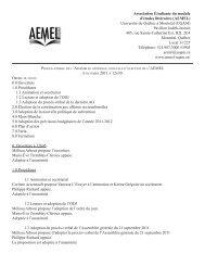 Assemblée générale du 6 octobre 2011 - Association étudiante du ...