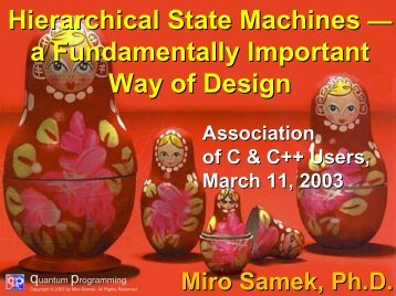 Hierarchical State Machines - UCSB CAD & Test
