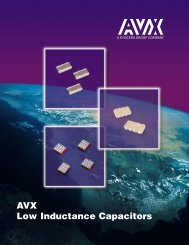 AVX Low Inductance Capacitors - Mouser Electronics