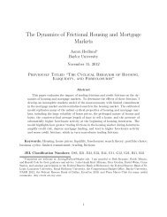 The Dynamics of Frictional Housing and Mortgage Markets