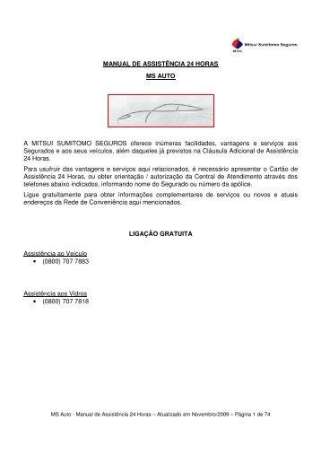 manual de assistência 24 horas ms auto - CA Royo Seguros
