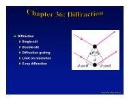 Diffraction Single-slit Double-slit Diffraction grating ... - BearSpace