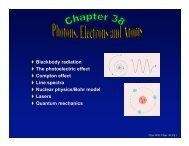 Blackbody radiation The photoelectric effect Compton ... - BearSpace