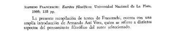 (La Cultura Española en 1906 - T. V O. C). ALFREDO FRANCESCHI ...