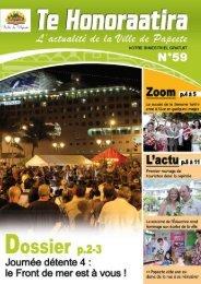 Te Honoraatira n° 59 (Septembre 2010) - Papeete