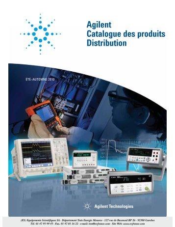 Agilent Catalogue des produits Distribution - Equipements ...