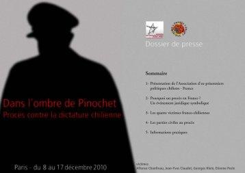 Dossier de Presse - Chili, Vérité et Mémoire
