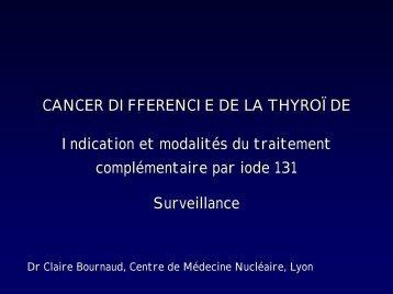 Algorithme de surveillance des cancers à ''faible risque'