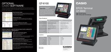 OPTiOnAL CAsiO sOFTwAre QT-6100 ePOs Terminal ... - E-Nowave