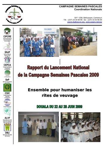 Rapport du lancement National de la Campagne Semaines ... - cipcre