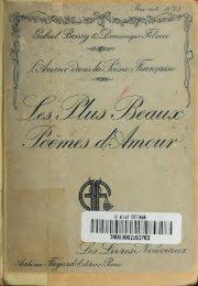 L'amour dans la poésie française : essai suivi d'un recueil sur les ...