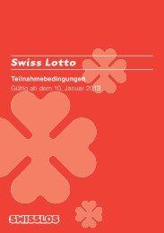 Teilnahmebedingungen Swiss Lotto (pdf) - Swisslos