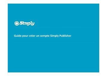 Guide pour créer un compte Simply Publisher - Simply.com