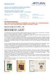 Bandes dessinées les 23-24 novembre 2012 - Artcurial