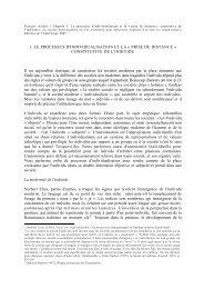 1. LE PROCESSUS D'INDIVIDUALISATION ET LA ... - datablock