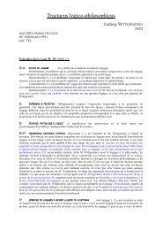 Tractacus logico-philosophicus - Normalesup.org