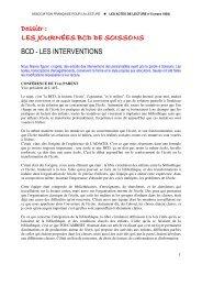 Intervention de Yves Parent - Association Française pour la Lecture