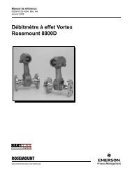 Débitmètre à effet Vortex Rosemount 8800D - Emerson Process ...