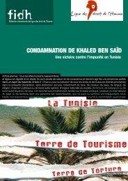 COnDAmnATIOn DE KHALED BEn SAïD - Coalition française pour ...