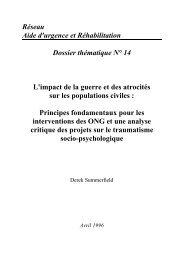 L'Impact de la Guerre et des Atrocités sur les Populations Civiles