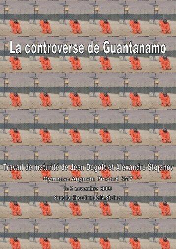 La controverse de Guantanamo - Gymnase Auguste Piccard