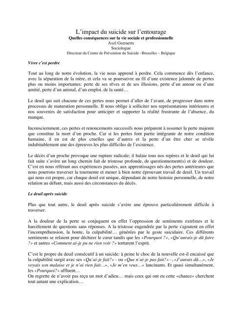 Axel Geeraerts Sociologue Directeur Du Centre De Psydoc France