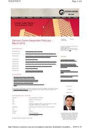 German Centre Newsletter Februar - März 2010