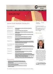 German Centre Newsletter February 2011 - Beijing by Beijing