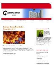 German Centre Newsletter November 2011 - German Centre Beijing