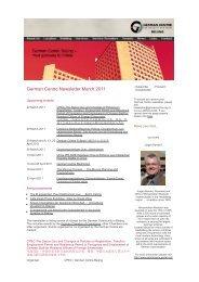 German Centre Newsletter March 2011 - German Centre Beijing