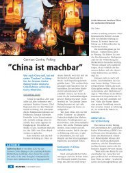 klicken um den Artikel zu lesen! - German Centre Beijing - German ...