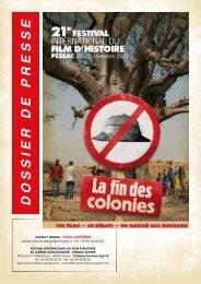 Programme du festival international du film d'histoire à Pessac