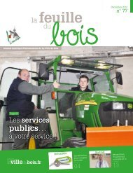 N° 77, décembre 2012 - Site officiel de la Mairie de la Ville du Bois