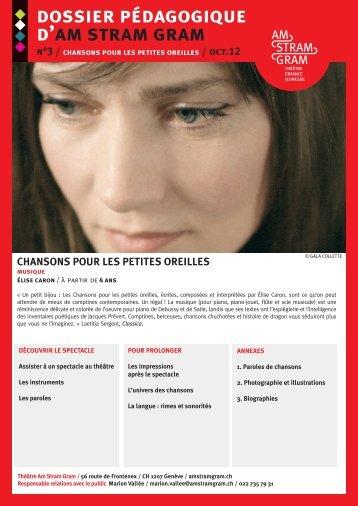 dossier pédagogique d'am stram gram n°3 / chansons pour les ...