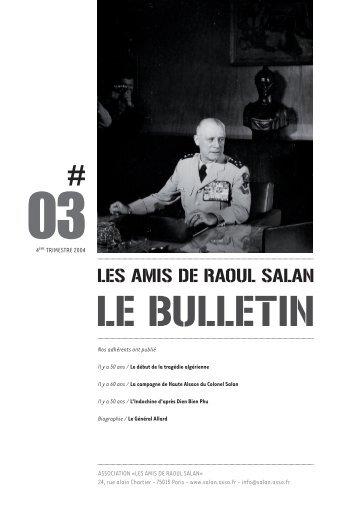 bulletin 03 / 4eme trimestre 2004 - Association des amis de Raoul ...