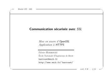 Communication sécurisée avec SSL - Enib