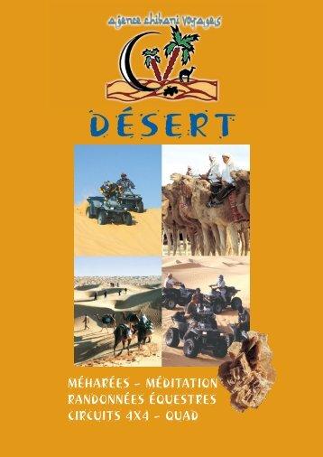 050005 CHIBANI Brochure desert - Bienvenue sur Chibani Voyages