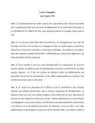Loi Le Chapelier du 14 juin 1791 Art. 1. L ... - Vie publique