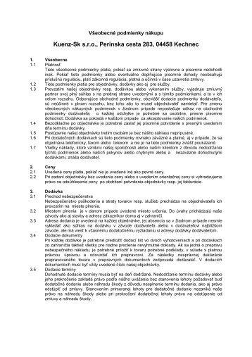 Kuenz-Sk s.r.o., Perínska cesta 283, 04458 Kechnec