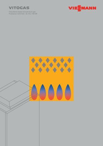 Chaudi res basse temp rature fioul gaz vitola 200 viessmann - Chaudiere gaz basse temperature viessmann ...