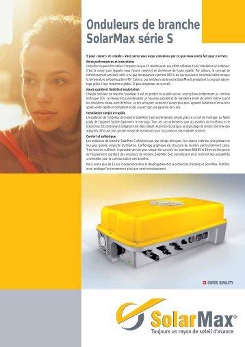 Onduleurs de branche SolarMax série S - Solstis