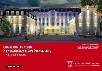 Télécharger la plaquette - Accueil - Théâtre des Sablons